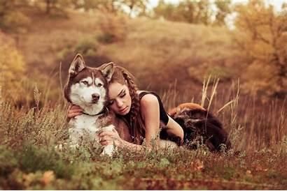 Dog Husky Breed Grass Lies Wallpapers Desktop