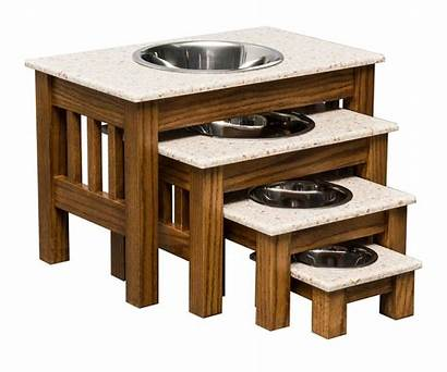 Dog Elevated Bowls Feeder Wood Stand Bowl