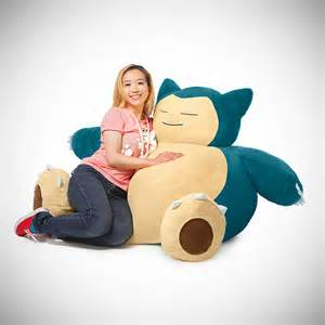snorlax bean bag chair might be geekiest is great
