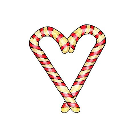 Download the free graphic resources in the form of png, eps, ai or psd. Best Candy Cane Heart Illustrations, Royalty-Free Vector ...