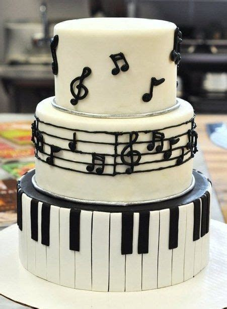 Music Themed Cakes, Themed Cakes And Piano Cakes On Pinterest