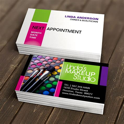 stylish beauty salon business card template