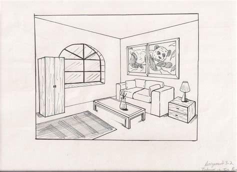 Simple Living Room Drawing