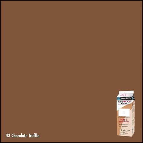 chocolate grout shop laticrete 2 1 4 lbs chocolate truffle epoxy grout at lowes com