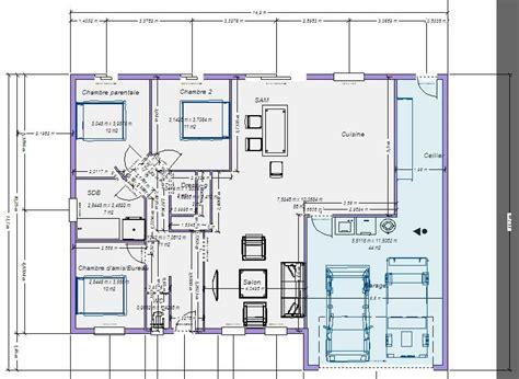plan de maison 3 chambres plan maison plain pied 100m2 votre avis 87 messages