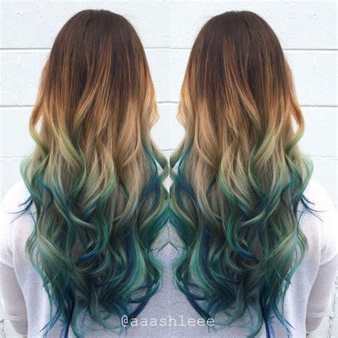 Best 25 Blue Brown Hair Ideas On Pinterest Teal Ombre