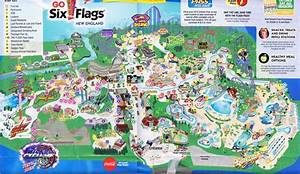 Six Flags New England - 2015 Park Map
