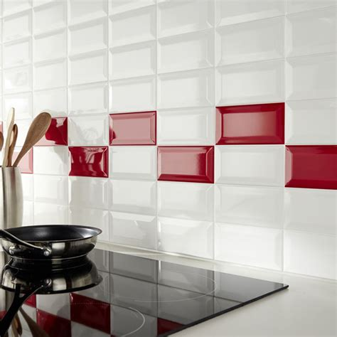 credence cuisine carrelage metro mur de cuisine en carrelage métro et blanc castorama