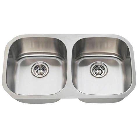 undermount stainless steel kitchen sink belle foret undermount stainless steel 32 1 4 in 0 hole