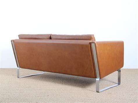 restaurer un canapé en cuir canapé 2 places scandinave modèle jh 802 galerie møbler