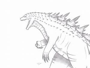 Godzilla Dibujos. Perfect Lineart Monsters U Demons ...