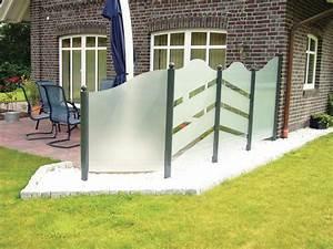 feststehender windschutz gt garten heinemann With französischer balkon mit bodeneinbaustrahler im garten einbauen