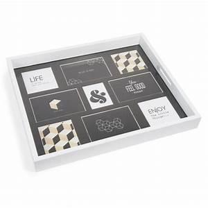 Plateau Maison Du Monde : plateau photos en bois blanc 38 x 45 cm malmo maisons du monde ~ Preciouscoupons.com Idées de Décoration
