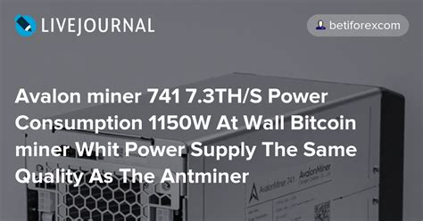 Shop with confidence using blokforge, americas leading distributor of bitcoin mining equipment. Avalon miner 741 7.3TH/S Power Consumption 1150W At Wall ...