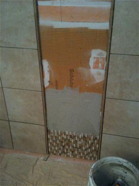 ceramictec custom tile shower waterproofed  schluter