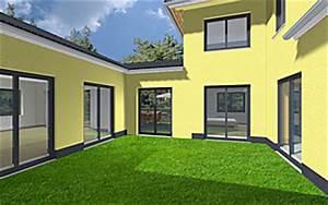 Bungalow Mit Atrium : atrium 7 2 winkelbungalow turm 170 42 37 einfamilienhaus neubau massivbau stein auf stein ~ Indierocktalk.com Haus und Dekorationen