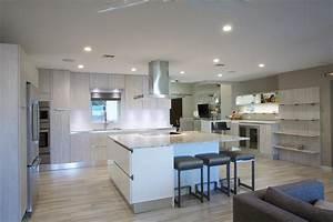 hotte cuisine ilot central nos projets clients hotte With salle de bain design avec hotte cuisine décorative