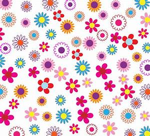 Clipart - Colorful Floral Pattern Background
