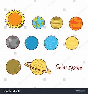 Solar System Planets Doodle Stock Vector 126835907 ...