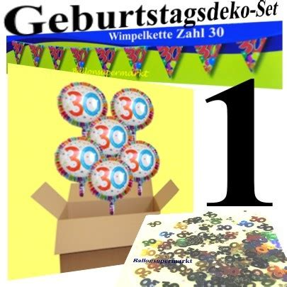 geburtstagsdeko 1 geburtstag 30 er geburtstag set 1 dekoration geburtstagsdeko
