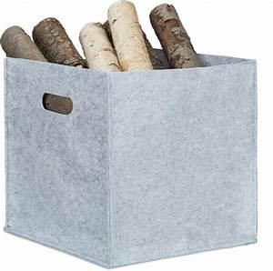 30 X 30 : relaxdays houtmand vierkant vilt haardhout mand opbergdoos 30 x 30 x 30 cm grijs ~ Markanthonyermac.com Haus und Dekorationen