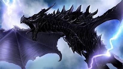 Skyrim Dragon Elder Scrolls Wallpapers Backgrounds Scroll