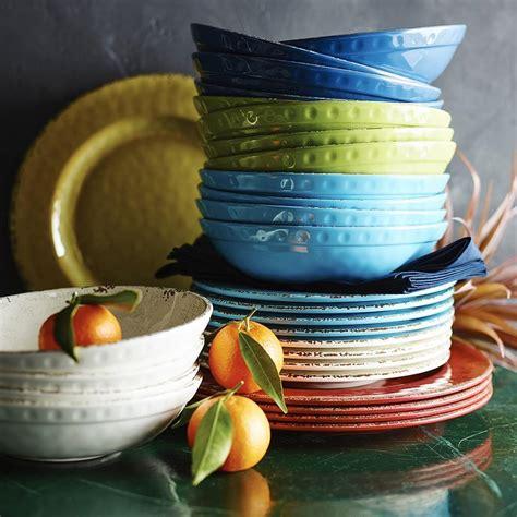 rustic melamine bowl azure blue williams sonoma au