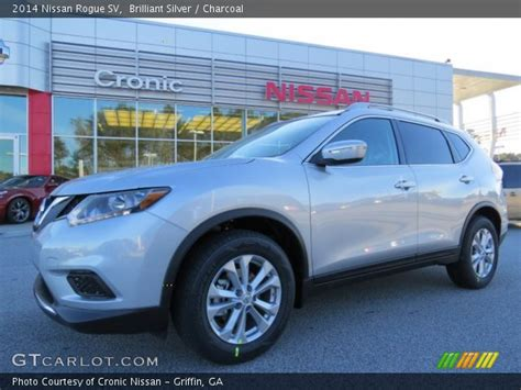 silver nissan rogue 2014 brilliant silver 2014 nissan rogue sv charcoal