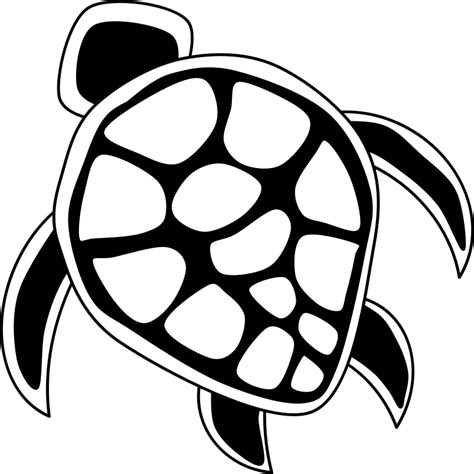 turtle clipart black and white hawaiian turtle clipart clipartion