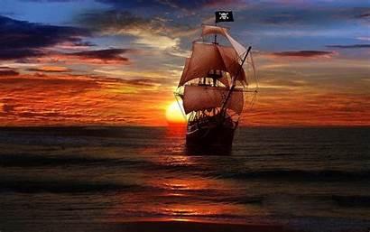 Desktop Pirate Fantasy Ship Sunset Wallpapers13 1200