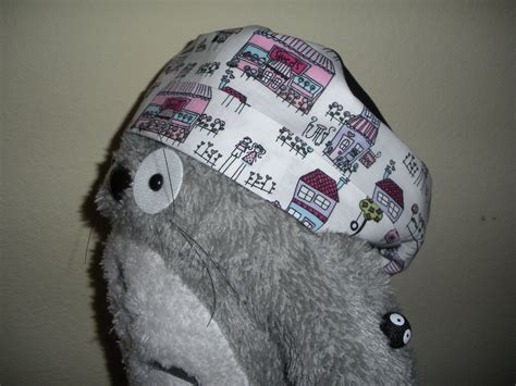 diy surgicalscrub hat  steps  pictures