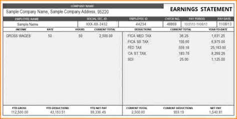 truck driver pay stub template secure paystub