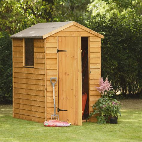 shed b and q 6x4 larchlap apex overlap wooden shed departments diy