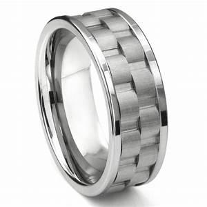 tungsten carbide 9mm double coinedge wedding band ring With tungsten carbide wedding rings