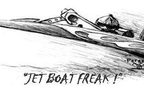 Jet Boat Drawing by Whistling Winds Rod Jet Boat Freak Pencil