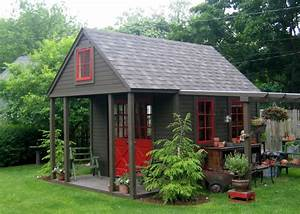 new ideas garden shed with porch plans nappanee home and With backyard buildings and more