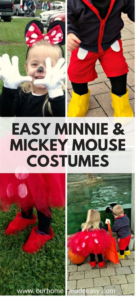 easy mickey minnie mouse halloween costumes  home