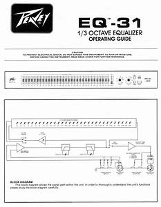 Peavey Stereo Equalizer 31 User Guide