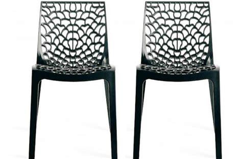 lot de chaises de jardin pas cher lot de 2 chaises design anthracite gruyer chaises design pas cher