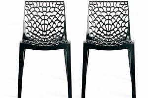 Lot De Chaise Pas Cher : lot de 2 chaises design anthracite gruyer chaises design pas cher ~ Teatrodelosmanantiales.com Idées de Décoration