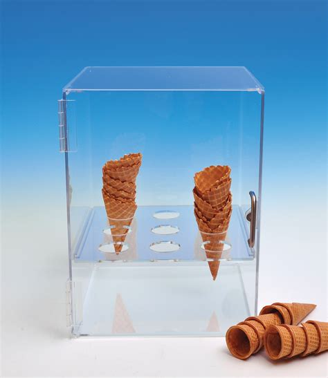 ice cream cone holder cabinet displays for food foodservice displays