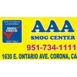 aaa phone number ca aaa smog center smog check stations 1630 e ontario ave