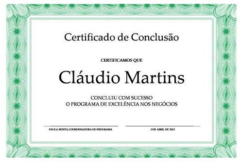 baixar grátis de software de design de certificados