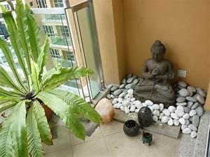 little Buddha garden on the balcony Outdoor Ideas