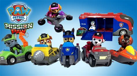 paw patrol mission paw vehicles marshall chase rubble