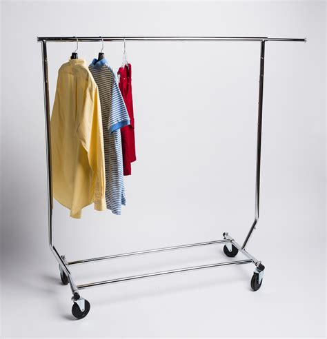 Rolling Clothing Rack  Single, Collapsible  A&b Store