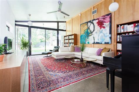 Colorful Midcentury Modern Family Room 2014 HGTV