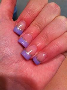 Purple French manicure   Nails :)   Pinterest