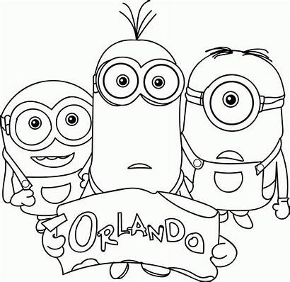 Coloring Pages Minions Lots Popular