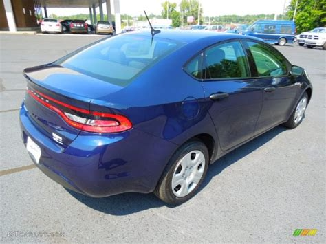 True Blue Pearl Coat 2013 Dodge Dart SE Exterior Photo